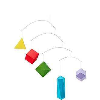 DIY Polygon Paper Mobile