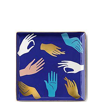 Hamsa Ceramic Tray