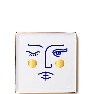 Janus Goddess Ceramic Tray