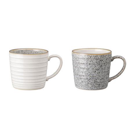 Studio Grey 2 Piece Ridged Mug, ${color}