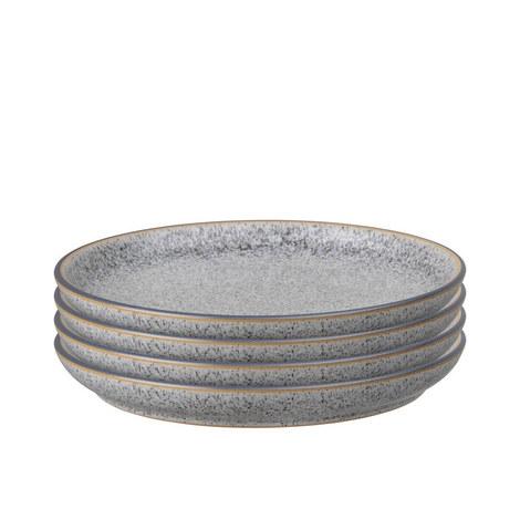 Studio Grey 4 Piece Medium Coupe Plate Set, ${color}