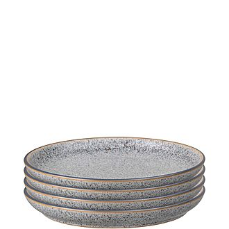 Studio Grey 4 Piece Medium Coupe Plate Set