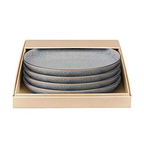 Studio Grey 4 Piece Coupe Dinner Plate Set, ${color}