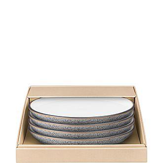 Studio Grey 4 Piece Medium Coupe Plate Set