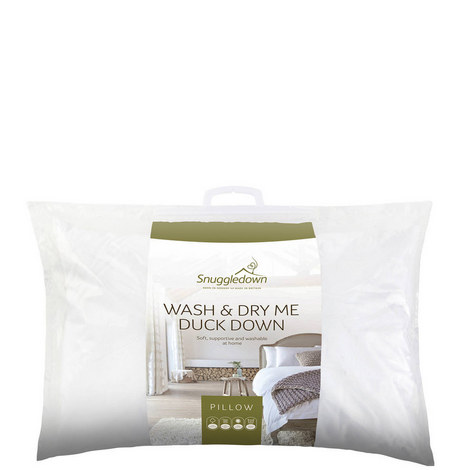 Wash & Dry Me Duck Down Pillow, ${color}