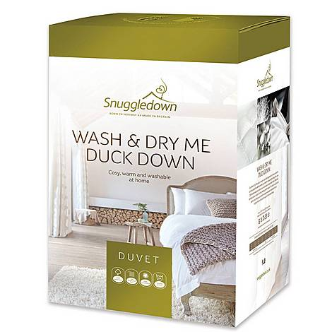 Wash and Dry Me Duck Down 13.5 Tog Duvet, ${color}