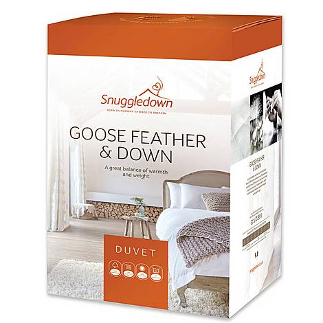 Goose Feather and Down 10.5 Tog Duvet, ${color}