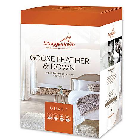 Goose Feather and Down 13.5 Tog Duvet, ${color}