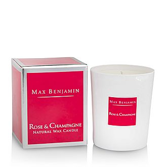 Rose & Champagne Scented Candle