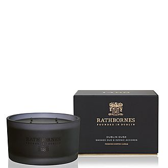 Dublin Dusk Smoked Oud and Ozone Accords Luxury Candle