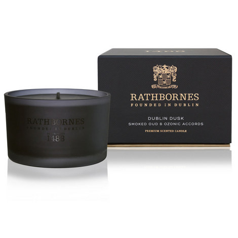 Dublin Dusk Smoked Oud and Ozone Accords Travel Candle, ${color}