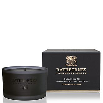 Dublin Dusk Smoked Oud and Ozone Accords Travel Candle
