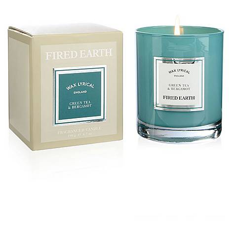 Fired Earth Green Tea and Bergamot Candle 190g, ${color}