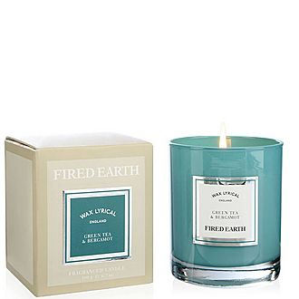 Fired Earth Green Tea and Bergamot Candle 190g