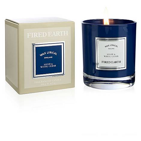 Fired Earth Assam and Cedar Candle 190g, ${color}