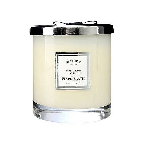 Fired Earth Chai and Lime Blossom Candle 490g, ${color}