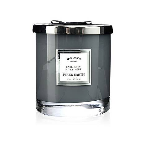 Fired Earth Earl Grey and Vetiver Candle 490g, ${color}