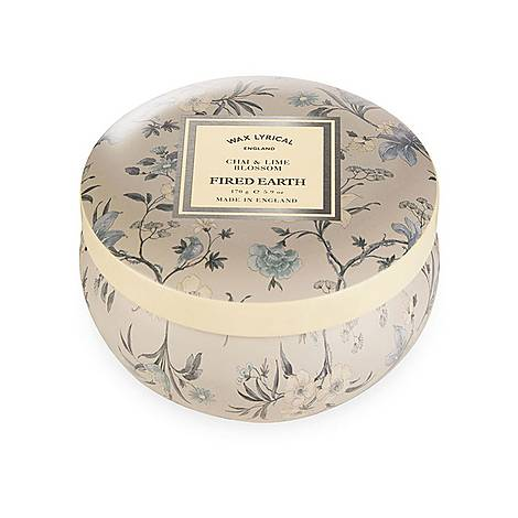 Fired Earth Chai and Lime Blossom Candle Tin, ${color}