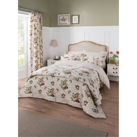 Antique Floral Duvet Cover, ${color}