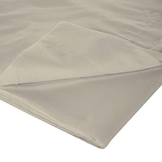 200 Thread Count Egyptian Cotton Flat Sheet Light Grey