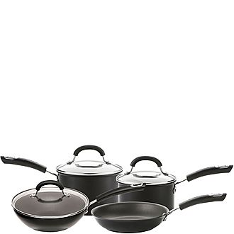 Total Hard Anodized 4 Piece Saucepan Set
