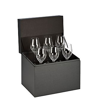 Set of Six Lismore Essence White Wine Glasses 14oz