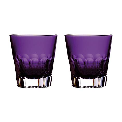 Set of Two Icon Jeff Leatham Double Old Fashioned Glasses, ${color}