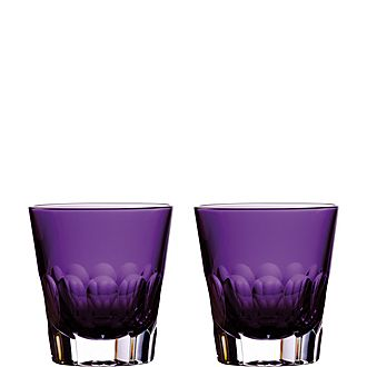 Set of Two Icon Jeff Leatham Double Old Fashioned Glasses