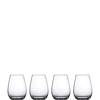 Set of Four Moments Stemless Wine Glasses