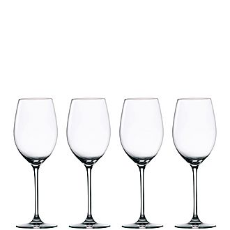 Set of Four Moments White Wine Glasses