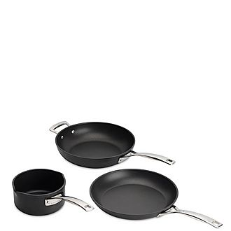 Toughened Non-Stick Three-Piece Cookware Set