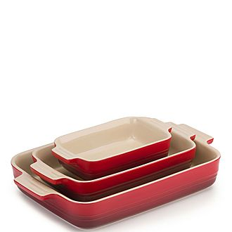 Three-Piece Cerise Signature Dish Set