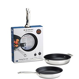3 Ply Stainless Steel 2 Piece Frying Pan Set