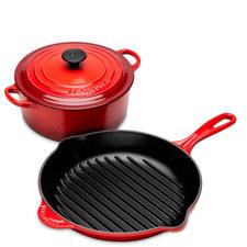 Casserole Dish & Pan Cast Iron Starter Kit