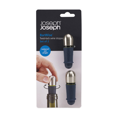 Twistlock Wine Stopper Set of 2, ${color}