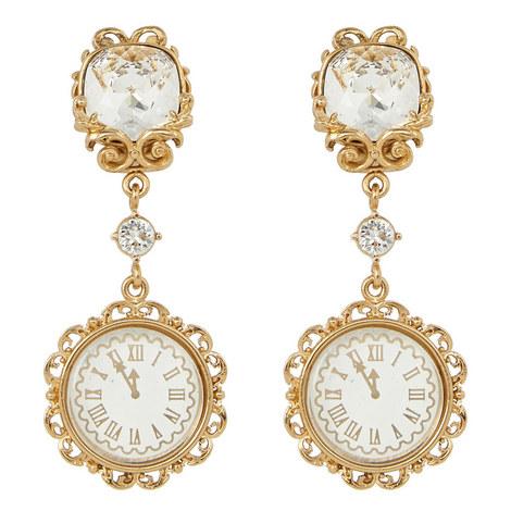 Clock Drop Earrings, ${color}