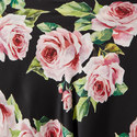 Rose Print Silk Foulard, ${color}