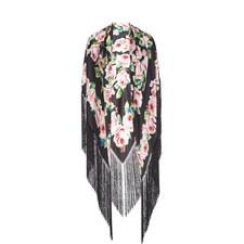 Rose Print Silk Foulard