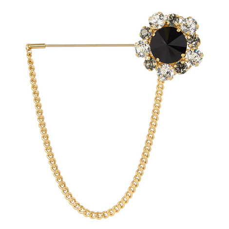 Crystal Chain Brooch, ${color}