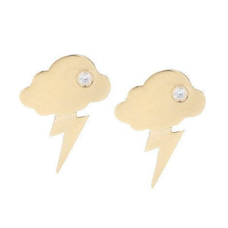 Storm Clouds Crystal Studs, ${color}