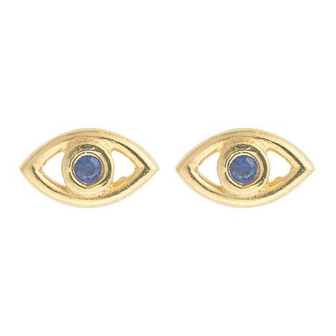 Evil Eye Crystal Studs, ${color}