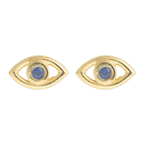 Evil Eye Crystal Studs, ${color}