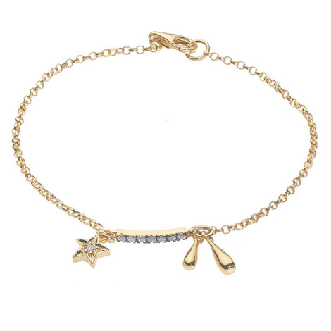 Stars and Raindrops Chain Bracelet, ${color}