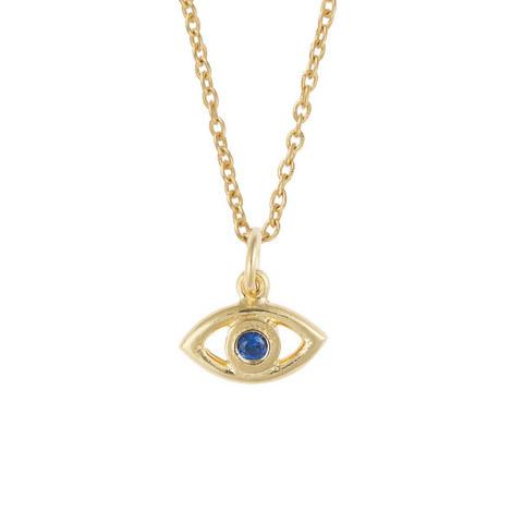 Evil Eye Crystal Necklace, ${color}