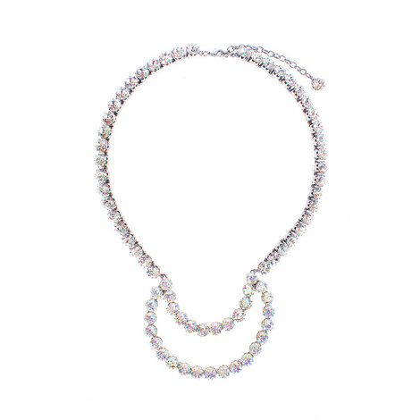 Half Moon Crystal Necklace, ${color}