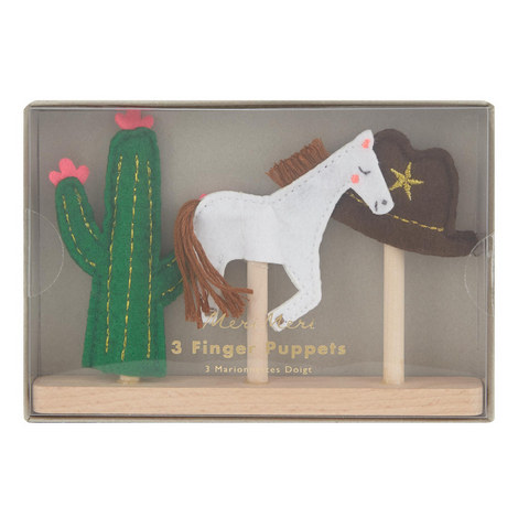 3-Pack Wild West Finger Puppets, ${color}