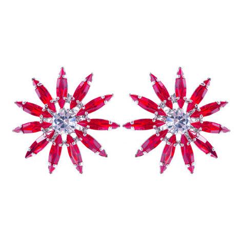 Crystal Floral Studs, ${color}