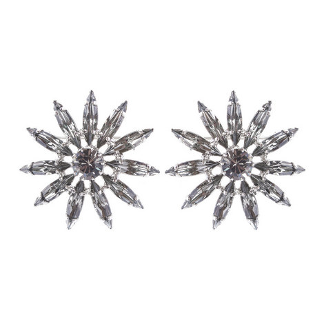 Crystal Floral Studs, ${color}