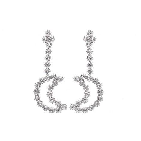 Half Moon Drop Earrings, ${color}