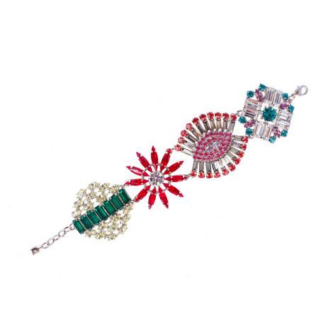 Crystal Cluster Bracelet, ${color}